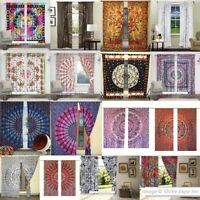 Boho Mandala Tapestry Curtains Decorative Window Valances Throw Sheer Panels