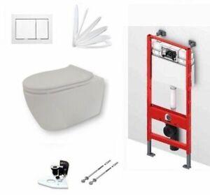TECE Vorwandelement + Keramag ICON WC, spülrandlos+Beschichtung+ Drückerplatte