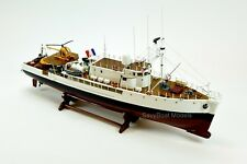 Rv Calypso Research Vessel Handmade Wooden Ship Model with lights 36""