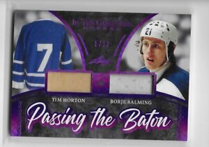 Leaf In the Game Used Passing the Baton Dual Stick Jersey Horton Salming 5/12
