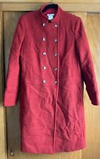 Vtg Michael Kors Women's Red Wool Pea Coat Size 8 Double Breasted 1980's Retro