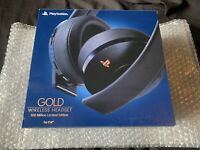 Sony PlayStation Gold PS4 500 Million Limited Edition Wireless Headset Open Box