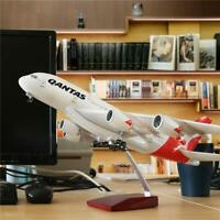 QANTAS A380 LARGE PLANE MODEL LED CABIN LIGHTS & WHEELS  A380 APX 45cm