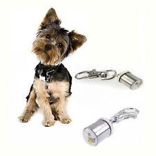 Pet Dog Cat LED Flashing Red White Blue Hi Vis Safety Collar Tag Blinker