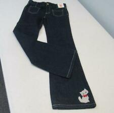 Gymboree HOMECOMING KITTY Denim Blue Jeans w/Cat on Cuff Size 10 NWT TL54