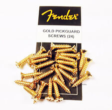 Fender Pickguard Mounting Screws in Gold - 24 Count