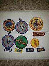 Lot of 11 Vintage Great Rivers BSA  Council Shoulder Patches Boy Scouts Illinois