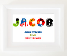 Personalised New Baby Print! Personalised New Baby / Christening Gift!