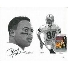 Jerry Rice Oakland Raiders Signed 11x14 Print Frank Nareau Artwork JSA Autograph