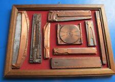 Alte Druckplatten Druckstöcke Werkzeuge