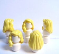 Lego 5 Hair Wig For Girl Female Minifigure Figure Long Yellow Blonde  Wavy