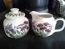 POOLE Campden Collection Ferndown sugar bowl and milk jug/creamer floral design