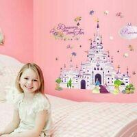 Princess Castle Wall Unicorn Sticker Vinyl Decal Girl Kids Art Cartoon FREE SHIP