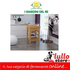 CARRELLO IN BAMBOO E LEGNO CON CASSETTO E RUOTE 60X60X89H G.DEL RE