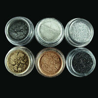 6 Pcs Women Eyeshadow Make Up Pigment Glitter Smoky Eye Version Powder Comestic