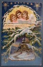 CARTOLINA IN RILIEVO - MERRY CHRISTMAS 1909 - ANGIOLETTI