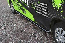 To Fit 2014+ Renault Trafic SWB Curved Side Bars - Black