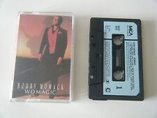 BOBBY WOMACK WOMAGIC CASSETTE TAPE 1986 PAPER LABEL MCA