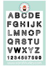 Sarah Hurley Zendoodle Alphabet Stamp Set