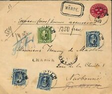 SWEDEN Cover *Gefle* Registered GERMAN TPO *Berlin-Sassnitz* FRANCE 1897 F154