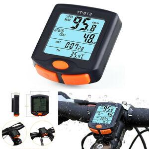 Multifunction Digital LCD Bicycle ATV Computer Speedometer Odometer Waterproof