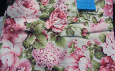 1 3/8 YDS Quilt Sewing Fabric Faye Burgos Marcus Fabrics Large Flowers Green