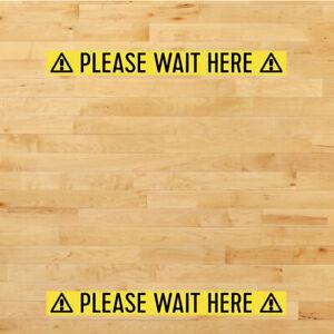 Social Distancing Adhesive floor PLEASE WAIT HERE stickers tape strip vinyl
