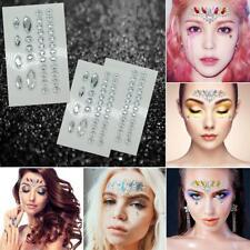 Glitter Jewel Adhesive Sticky Tattoo sticker Face Gems Body Makeup Wedding Party