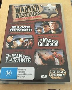 WANTED WESTERNS - MAJOR DUNDEE/MAN FROM COLORADO/MAN FROM LARAMIE - *0STD POST*