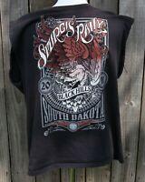 "Worn Biker Motorcycle "" 2011 STURGIS RALLY 71st BLACK HILLS SD "" T Shirt Tee"