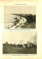 WWI Kosovo Soldiers Serbia Army Village de Rajagne Serbie Horses A ILLUSTRATION