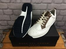 DUCA DEL COSMA MENS CAMELOT WHITE COGNAC SPIKELESS GOLF SHOES RRP £189