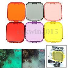 6Pcs Colorful Underwater Diving Camera Case Lens Filter for Gopro SJ4000 Hero 3