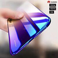 """COVER per Huawei P20/ Lite /Pro RIGIDA ULTRA SOTTILE SLIM ORIGINALE """"BLUE RAY"""""""