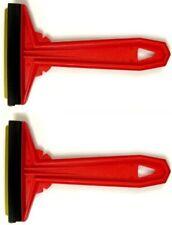 2 Eiskratzer Murska Farbe rot mit Messing original aus Finnland Eisschaber