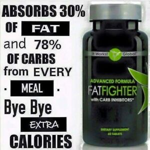 NEW It Works! Advanced Formula Fat Fighter with Carb Inhibitors - 60 Tablets