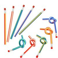 25 Pcs Soft Flexible Bendy Pencils Magic Bend Toys School Stationary Equipm A1U9