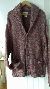 """100% THICK KNIT,COTTON CARDIGAN BY RALPH LAUREN.SIZE XL.CHEST 50"""", LENGTH 29""""."""