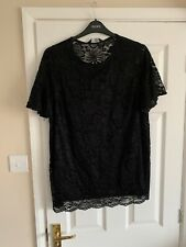 BARGAIN  Dorothy Perkins Black Lacey top size 18 BNWT