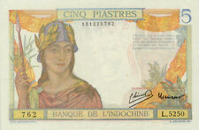 Indochine / French Indochina P-55d 5 piastres (1949) Unc-
