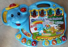 Vtech Touch and Teach Elephant Book Educational tested and works