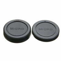 Camera Body Front + Rear Lens Cap Cover For Panasonic Olympus M4/3 Camera & Lens