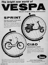 VESPA SCOOTER Ad Features CIAO & SPRINT 1969