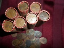 SHOTGUN ROLL UNSEARCHED WHEAT PENNIES GOOD MIX DATE  + 1 INDIAN HEAD CENT FREE