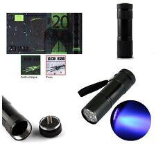 Détecteur de Faux Billets Lampe de Poche UV Ultra Lumière Violet 9LED