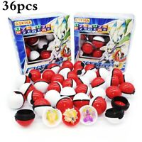 36pcs Small Pokemon Pocket ball Figurine Monsters mini toy egg gift For Kids