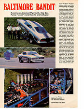 1969 HEMI BARRACUDA HEMI FUNNY CAR  -  ALAN PHILLIPS  -  NICE ARTICLE / AD
