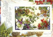Isle of Man-Winter Flora min sheet new issue 2014 mnh-Flowers-Berries etc