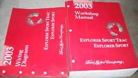 2003 Ford Explorer Sport Trac Service Shop Repair Manual Set FACTORY OEM W EWD