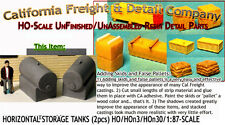 Horizontal Storage Tanks on Concrete Base (2pcs) Scale Model Masterpieces Hon3